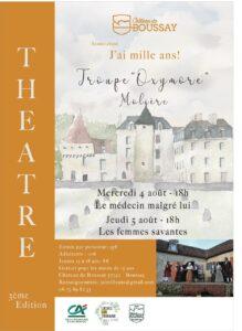 Théâtre de Molière avec « Le médecin malgré lui » @ Au château de Boussay